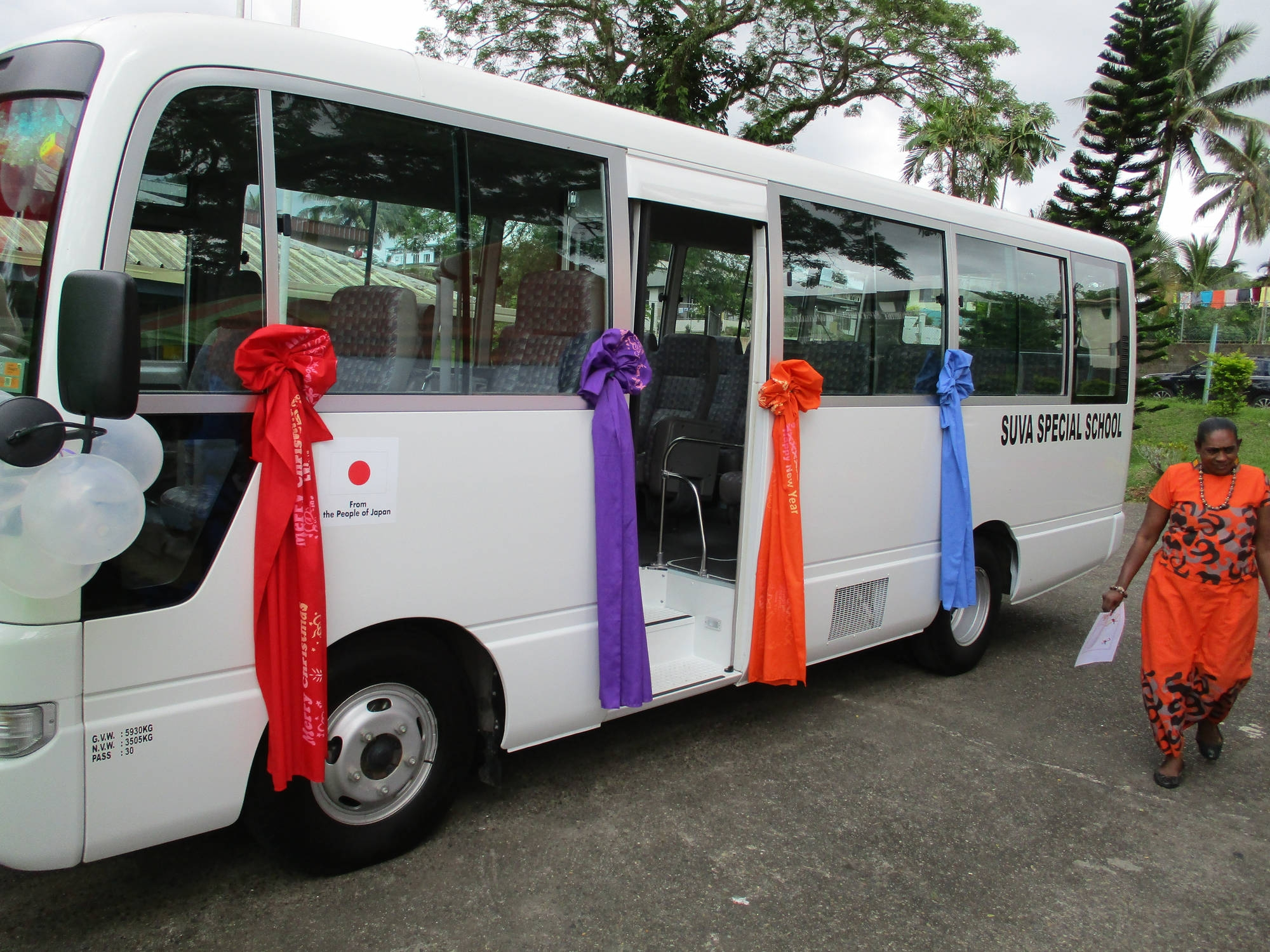 """The Handover Ceremony for """"The Project for Provision of School Bus"""